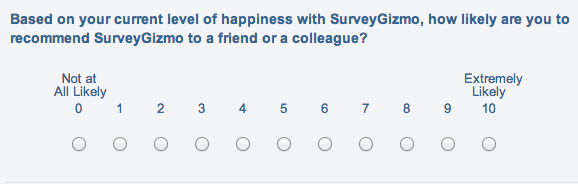 Example Of Net Promoter Score Nps Survey Question  Quantitative