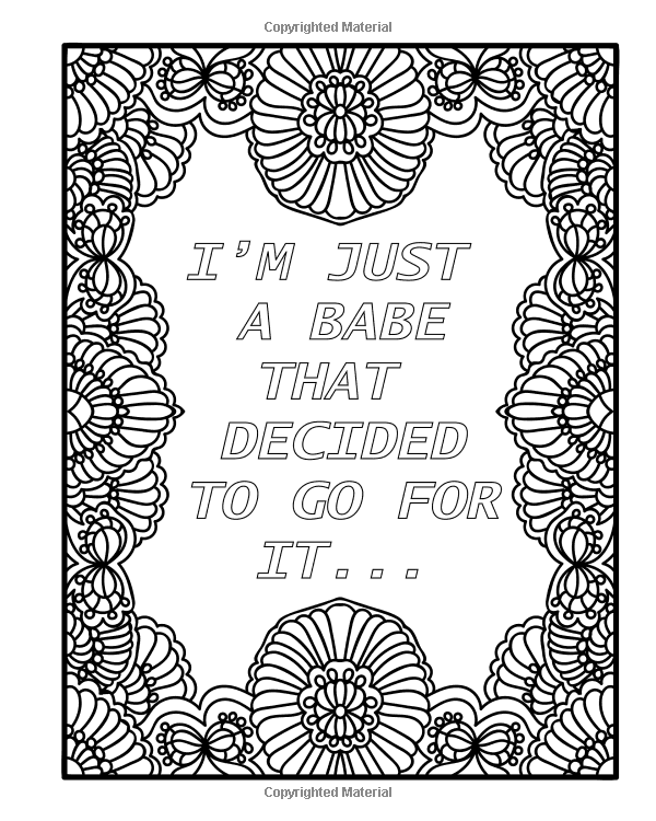 Amazon Com Badass Babe Coloring Book For Adults 30 Inspirational