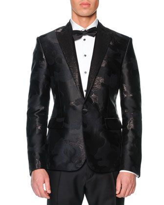 Beverly Hills Camo-Jacquard Tuxedo Jacket by Dsquared2 at Bergdorf Goodman.