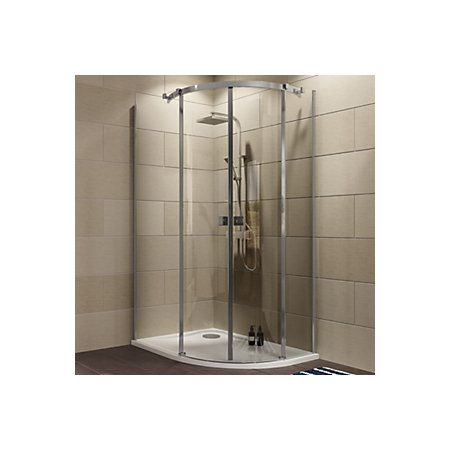Cooke Lewis Luxuriant Offset Quadrant Lh Shower Enclosure Tray Waste Pack With Double Sliding Doors W 1200mm D 900mm Double Sliding Doors Shower Enclosure Quadrant Shower Enclosures