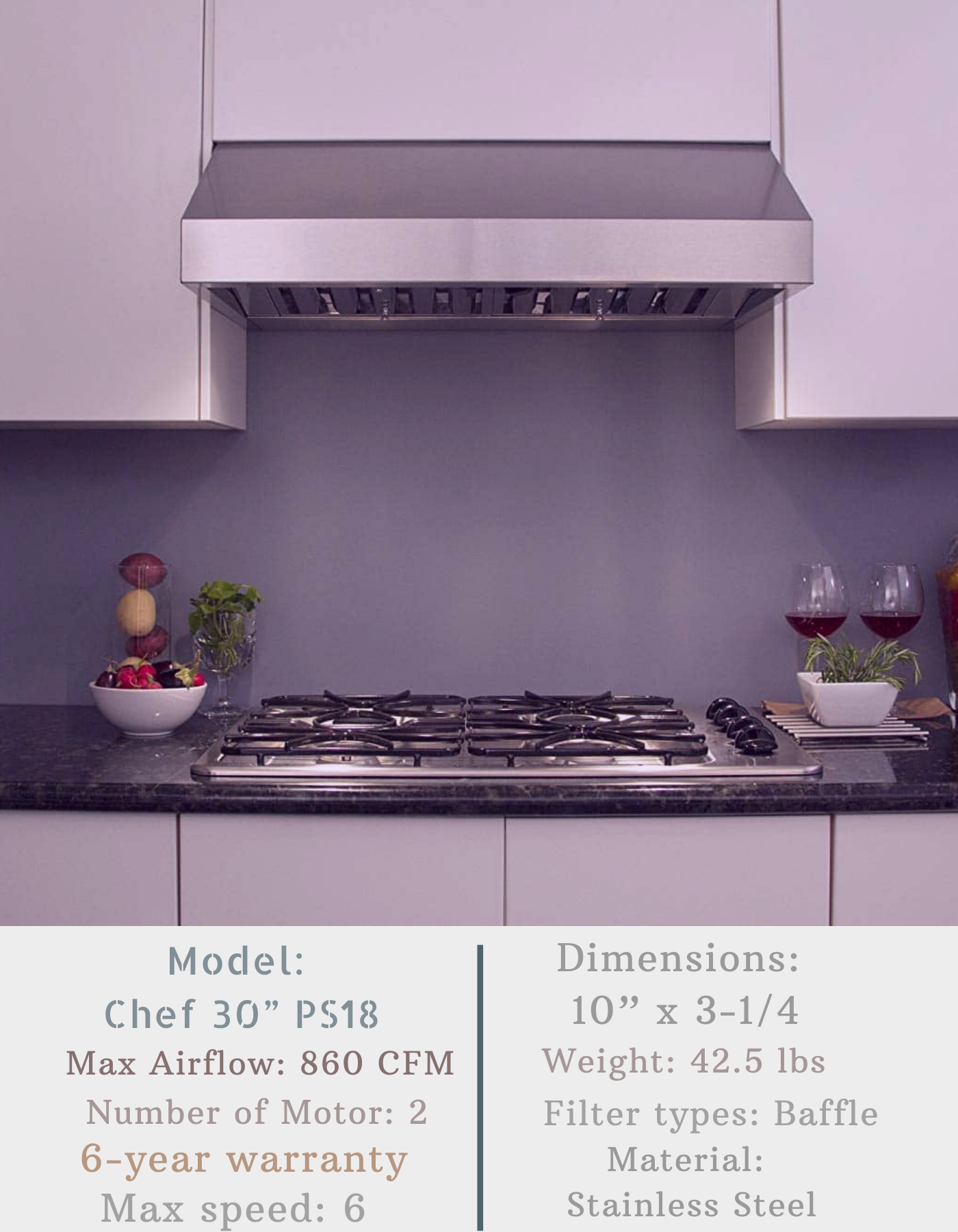 Chef 30 Ps18 Under Cabinet Range Hood Ductless Range Hood Range Hood Under Cabinet Range Hoods