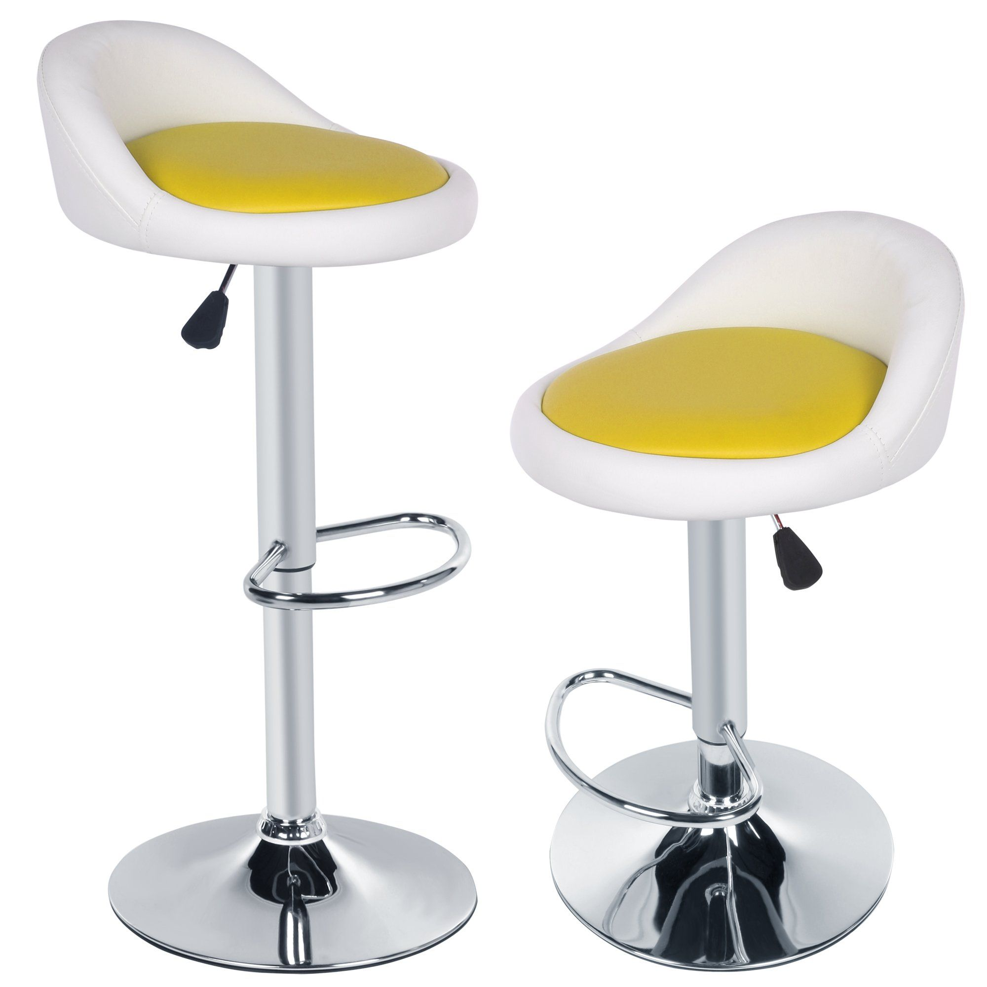 Homdox bar chairs leather adjustable swivel bar stools for