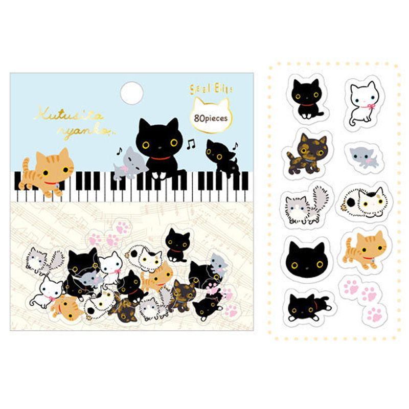 pas cher 80 pcs lot mignon de bande dessin e animaux papier autocollant paquet diy journal. Black Bedroom Furniture Sets. Home Design Ideas