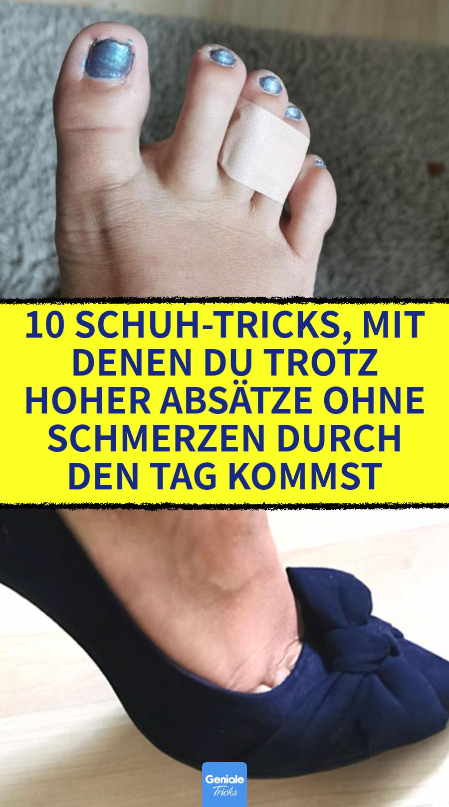10 Schuh Tricks, mit denen du trotz hoher Absätze ohne