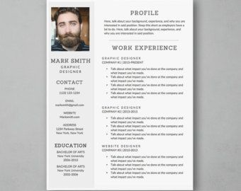 modern style 3 pack resume cover letter references template word