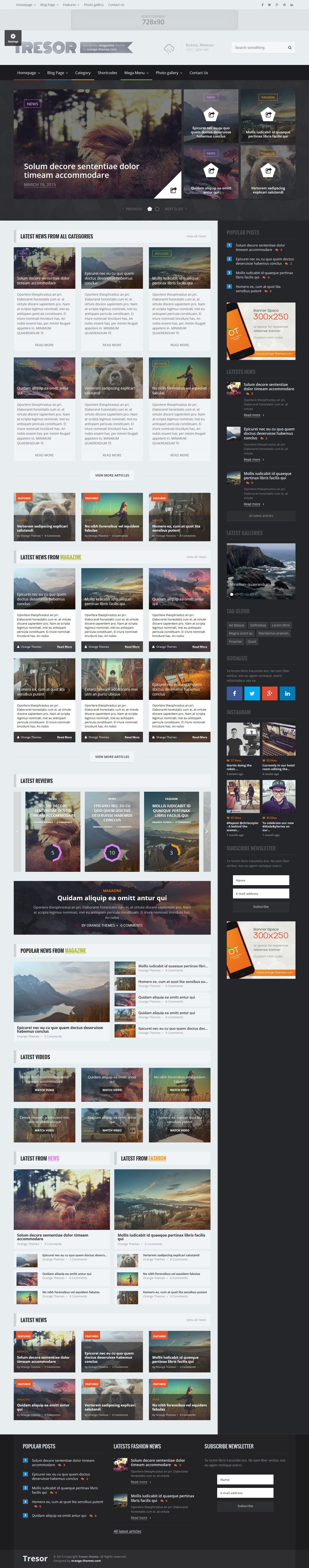 tresor multipurpose news magazine theme wordpress live preview and download http