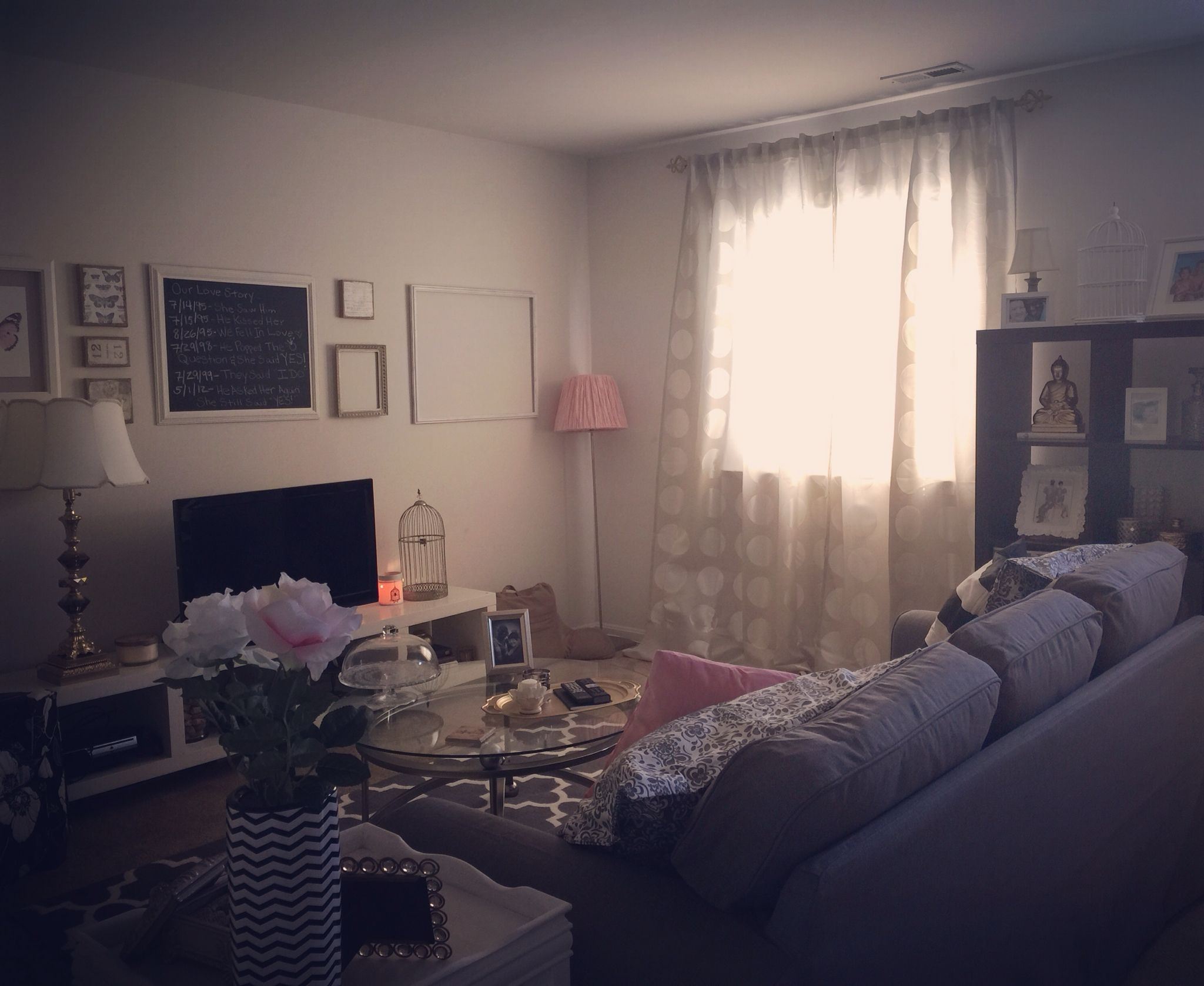 Pink And Grey Living Rooms Finished With My Living Room Flip Grey Pink Silver
