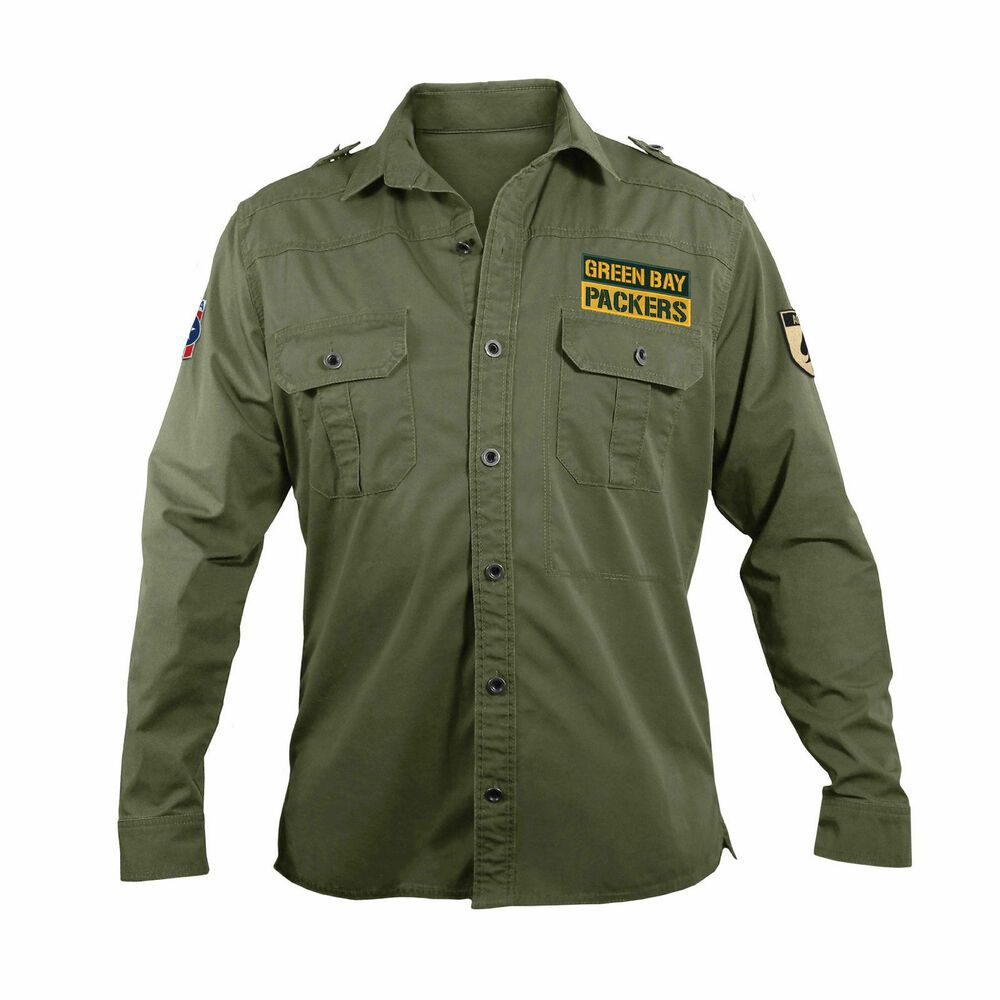 size 40 ea3bf 48d75 eBay Sponsored) NFL Mens Military Field Shirt | Coats and ...