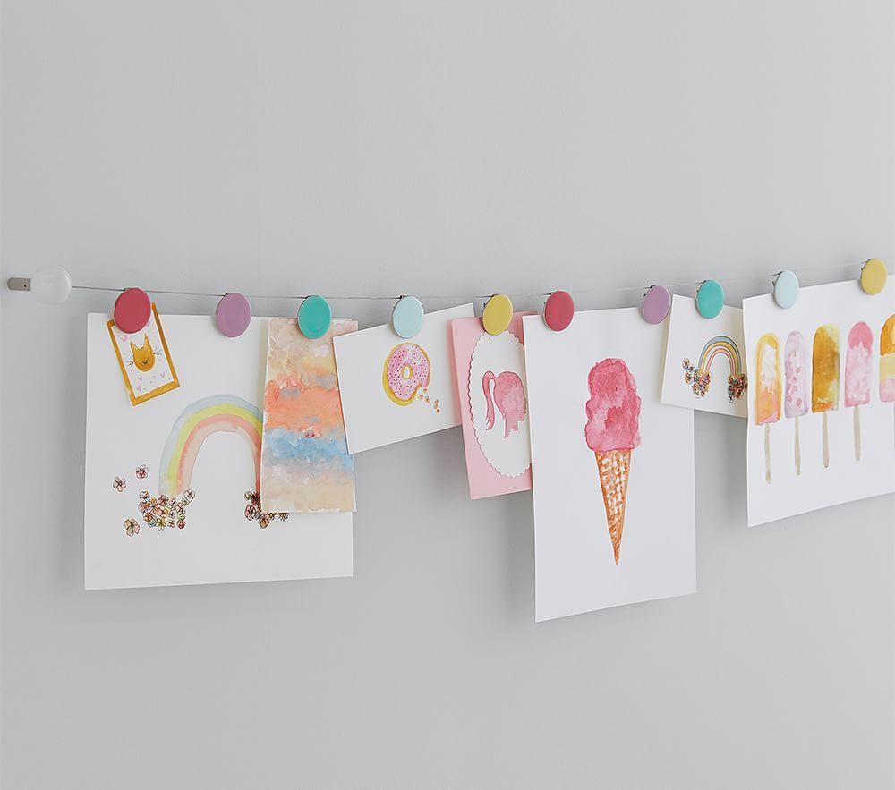 Rainbow Dot Art Cable Art Display Kids Art Wall Kids Kids Wall Decor