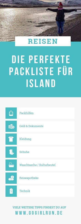 Meine Packliste für Island   Go Girl Run
