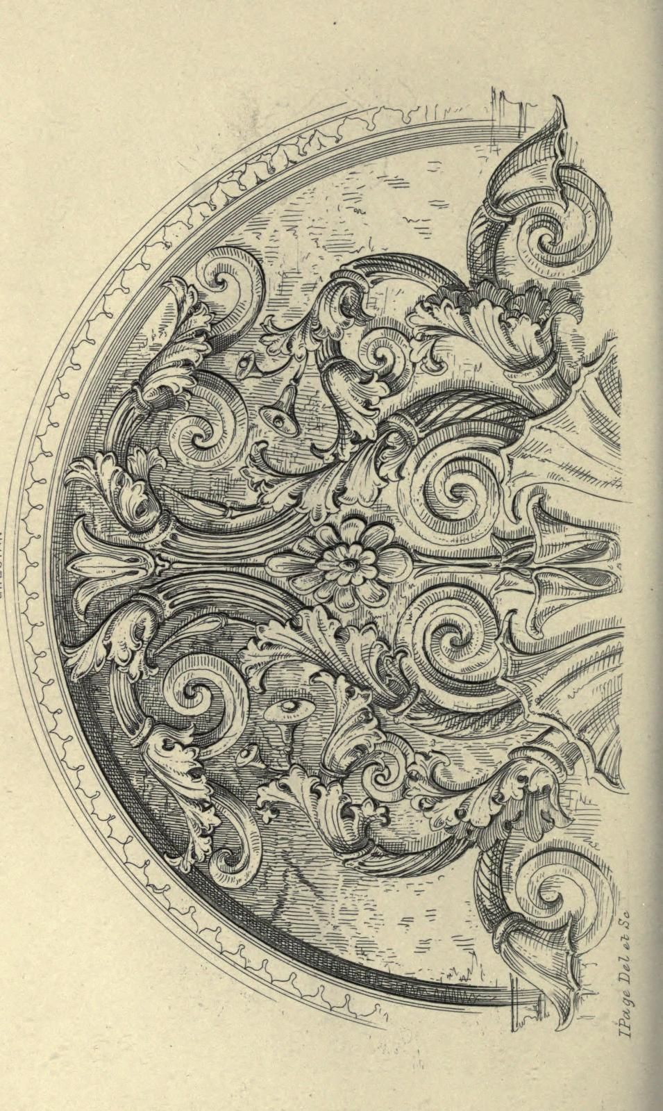 Guide For Drawing The Acanthus And Every Descr Ornament Drawing Acanthus Art