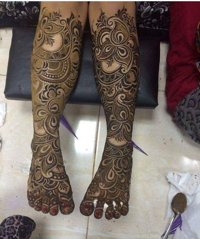 bridal arabic mehndi designs for legs