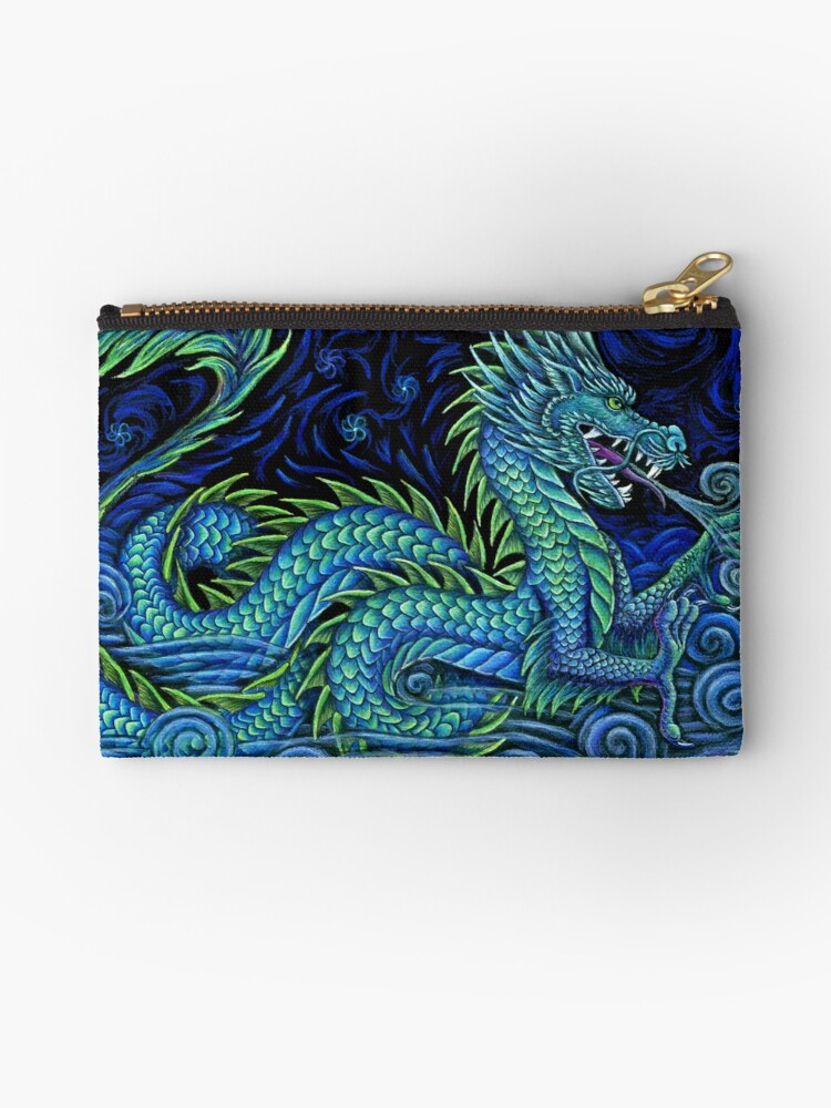 Chinese Azure Dragon Zipper Pouch in 2020 Zipper pouch
