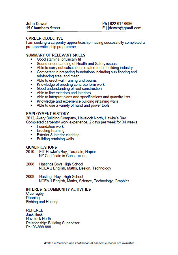Resume Format New Zealand (With images) Resume template