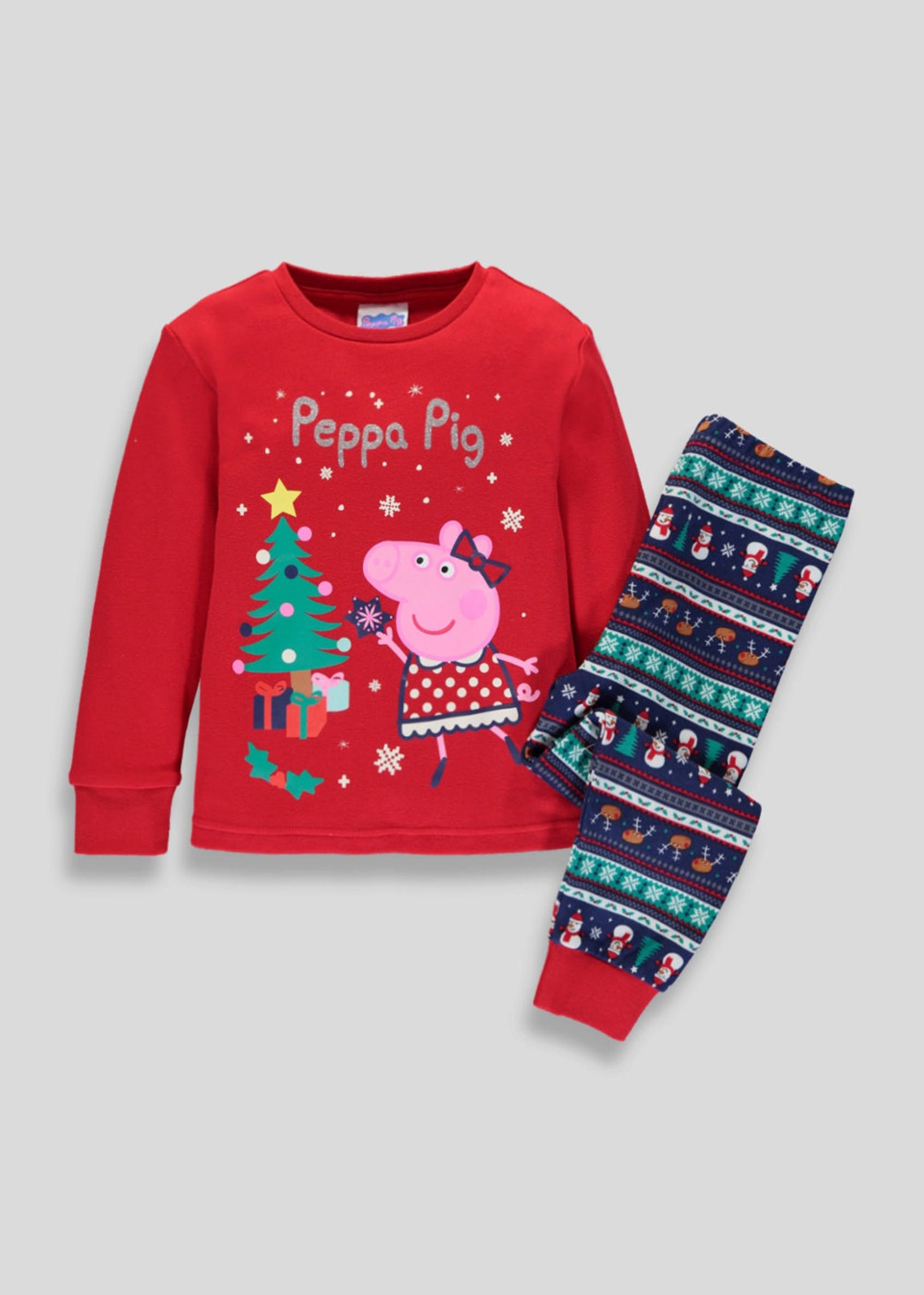 Kids Family Peppa Pig Christmas Pyjama Set (9mths5yrs
