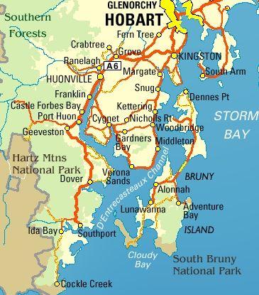 Map Of Australia And Tasmania.Map Of Huon Valley And Bruny Island Tasmania Travel Australia
