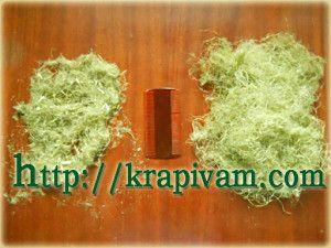 Волокна крапивы и вычесы