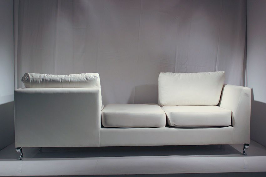 Double Sided Couch Magnificent White Double Sided Couch With Stainless Legs  At Remarkable . 2017
