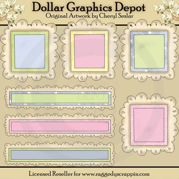 Baby Doodle Frames and Titles - Scrap Elements - $1.00 : Dollar Graphics Depot, Quality Graphics ~ Discount Prices