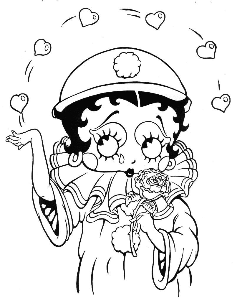 Betty Boop Coloring Pages Cartoon