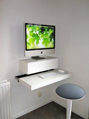 Ikea Hackers Imac Computer Desk Desks For Small Spaces Ikea Computer Desk Diy Computer Desk