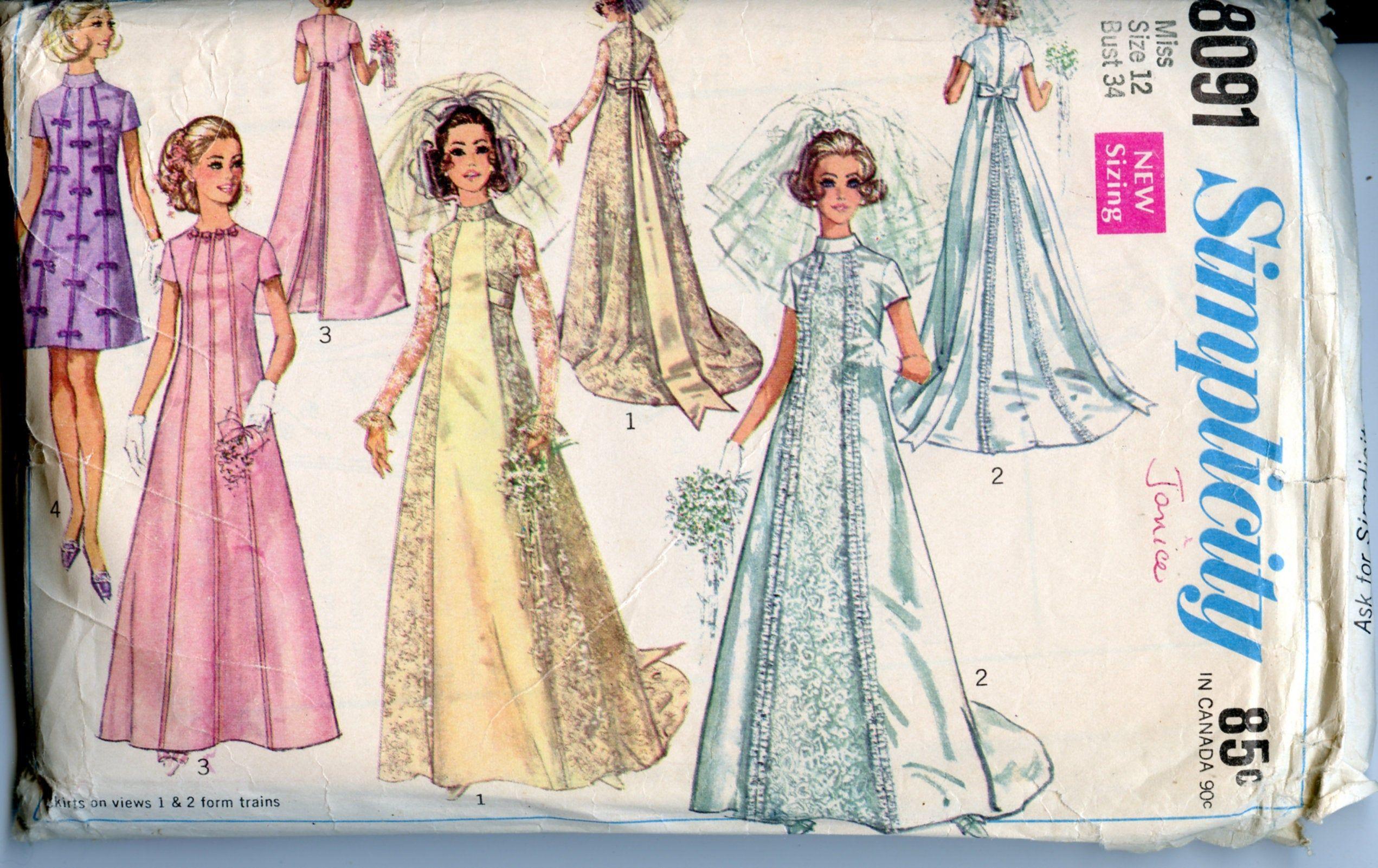 1960s Wedding Dress Size 12