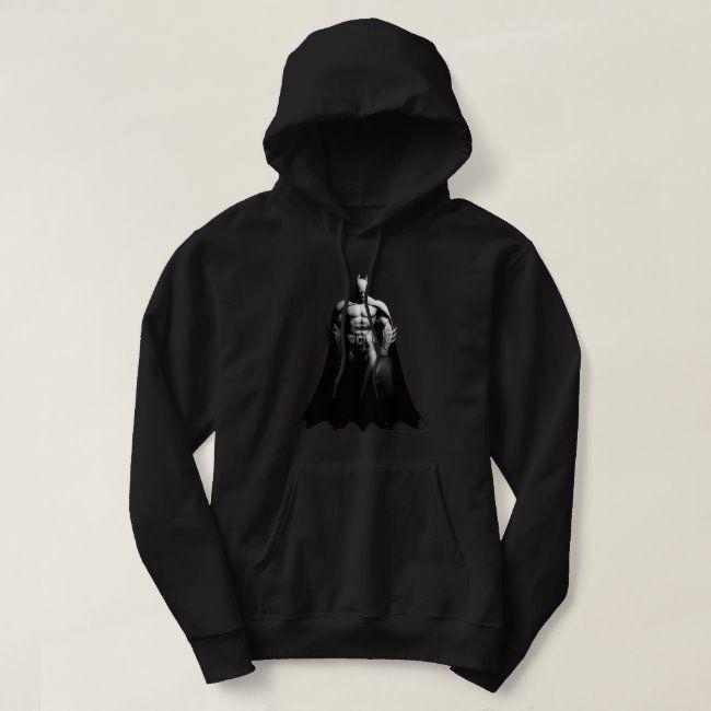 Arkham City  Batman Black and White Wide Pose Hoodie #Sponsored , #affiliate, #White, #Black, #Pose, #Wide, #Arkham