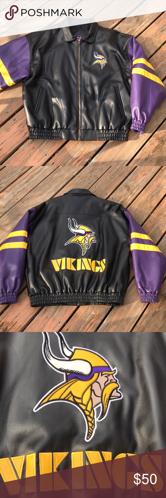 Vikings Jacket Jackets Embroidered Jacket Clothes Design [ 1740 x 580 Pixel ]