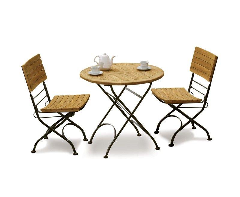 Teak Garden 2 Seater Bistro Set - Outdoor Bistro Dining Set | Bistro ...