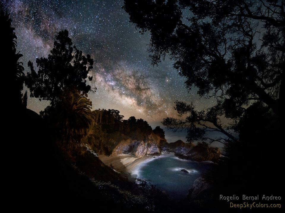 Milky Way over the Pacific Ocean
