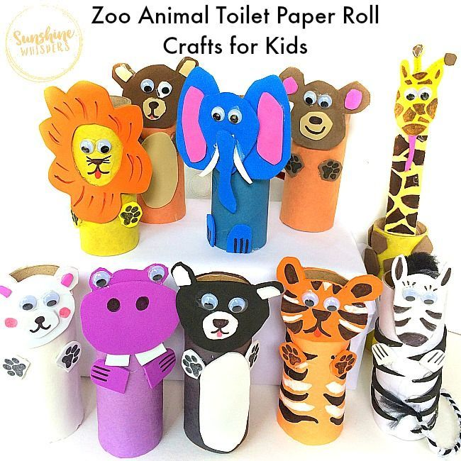 Photo of 10 Adorable Zoo Animal Toilet Paper Roll Crafts for Kids!,  #Adorable #Animal #Crafts #kids #…