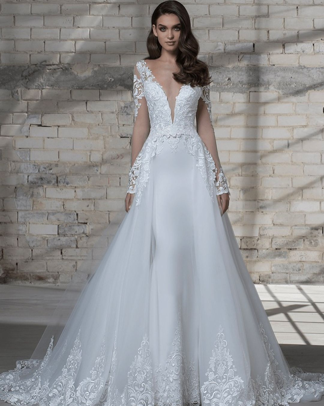 Pnina Tornai 2019 Wedding Dresses: This 2019 #LOVEbyPninaTornai Gown With A Detachable Skirt