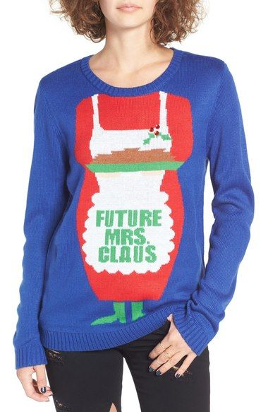 love by design future mrs claus christmas sweater available at nordstrom - Nordstrom Christmas Sweaters