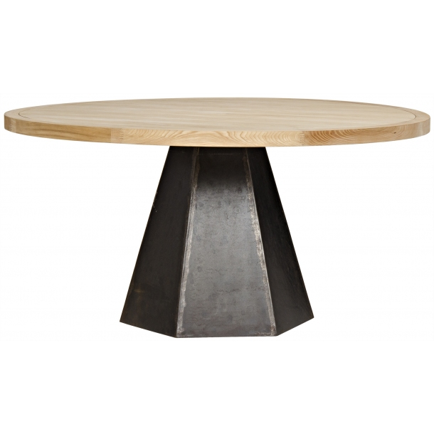 Arezo Dining Table Metal And Elm In 2020 Dining Table Dining