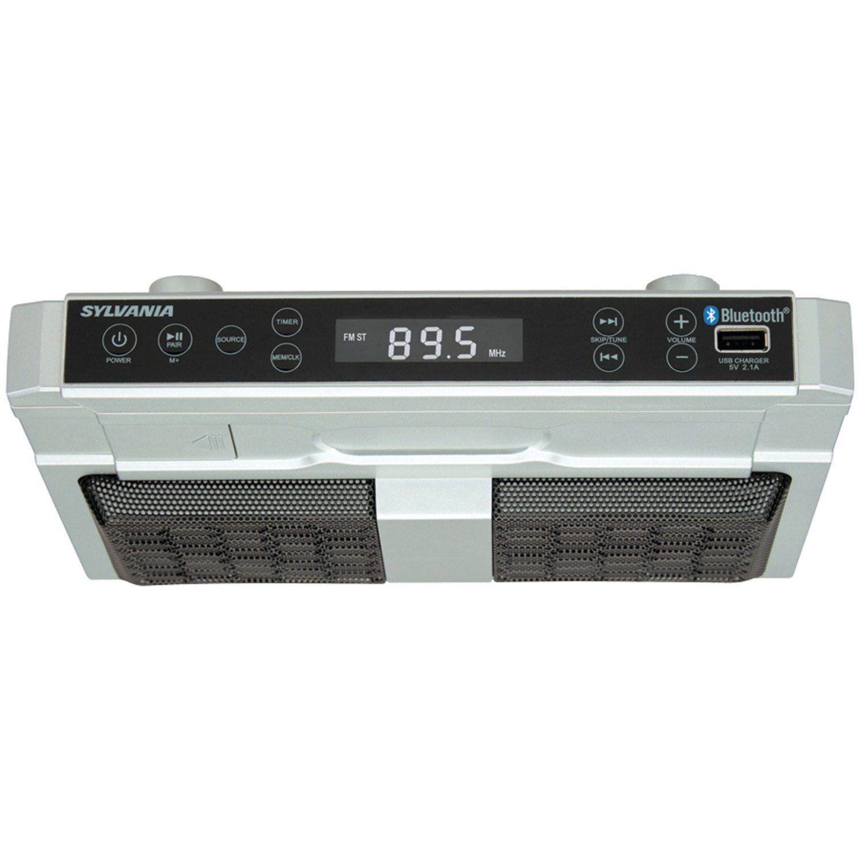 Sylvania SKCR2810BT Under Cabinet Clock Radio, Music System with ...