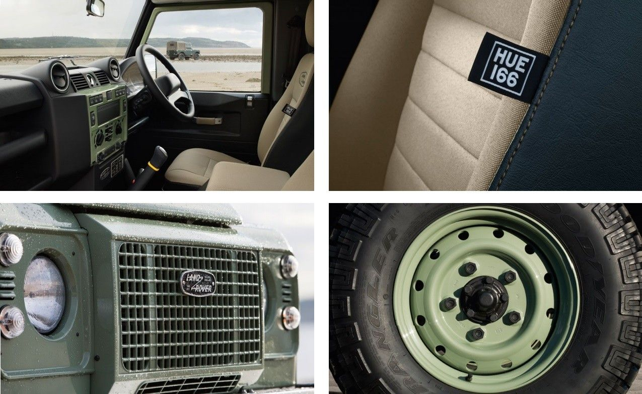 interior and exterior features of the new land rover defender heritage limited edition auto. Black Bedroom Furniture Sets. Home Design Ideas