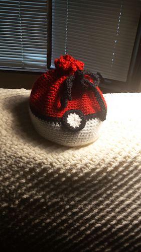 Pokemon inspired pokeball master ball dice bag