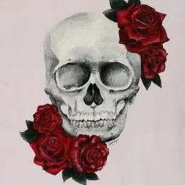 Imagenes De Calaveras Con Rosas 1 In 2020 Skull Painting Skull