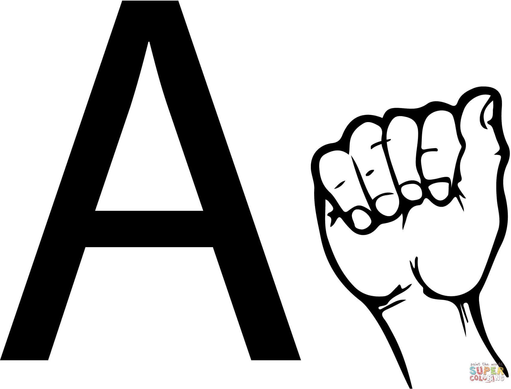 Asl Sign Language Letter A
