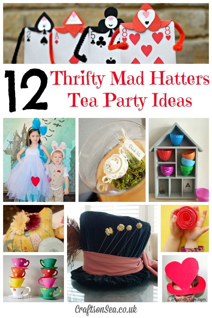 Thrifty Mad Hatters Tea Party Ideas Birthday Mad Hatter Party