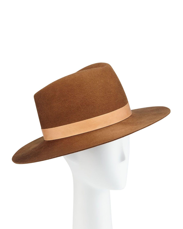 Stewart Wool Fedora Hat W Leather Hat Band Leather Hats Wool Fedora Fedora Hat