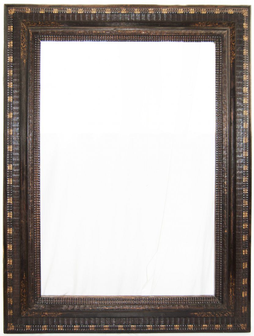 Large Dutch 17th C. ebonized ripple frame. on | Dutch and Hand shapes