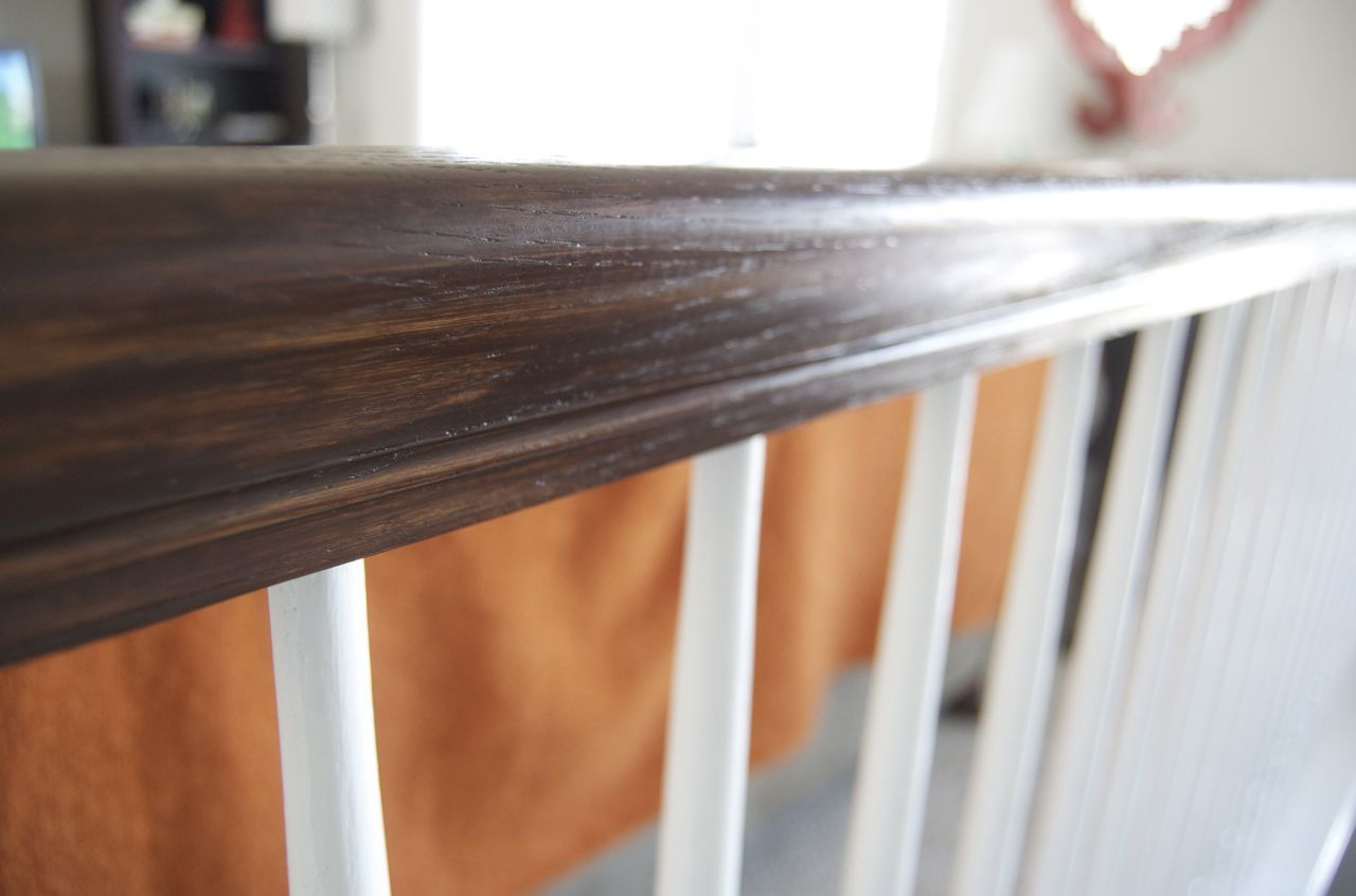 Before And After Gel Stained Stair Rail Matsutake Diy