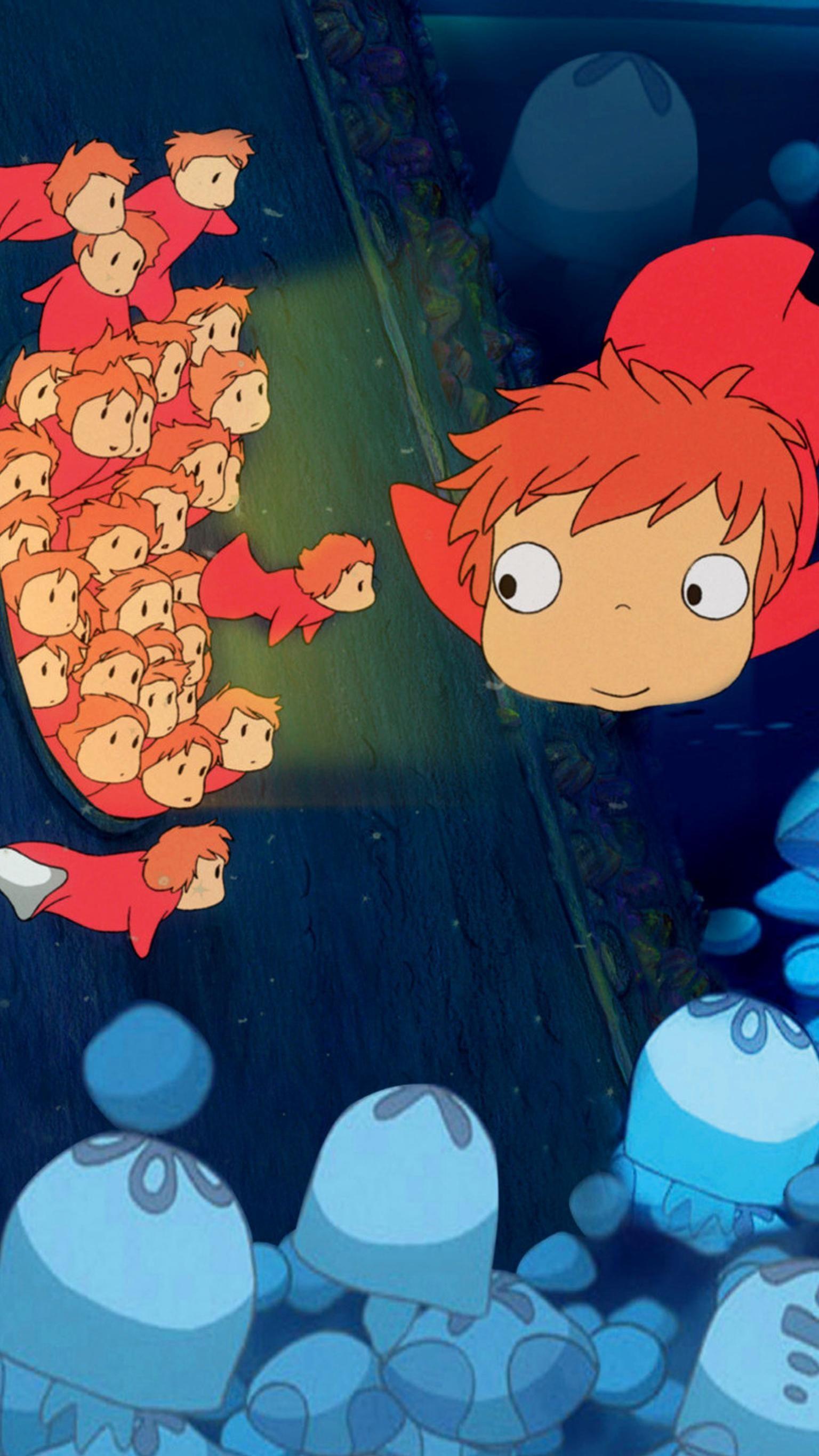 Ponyo 2008 Phone Wallpaper Moviemania Ponyo Studio Ghibli Ghibli Artwork
