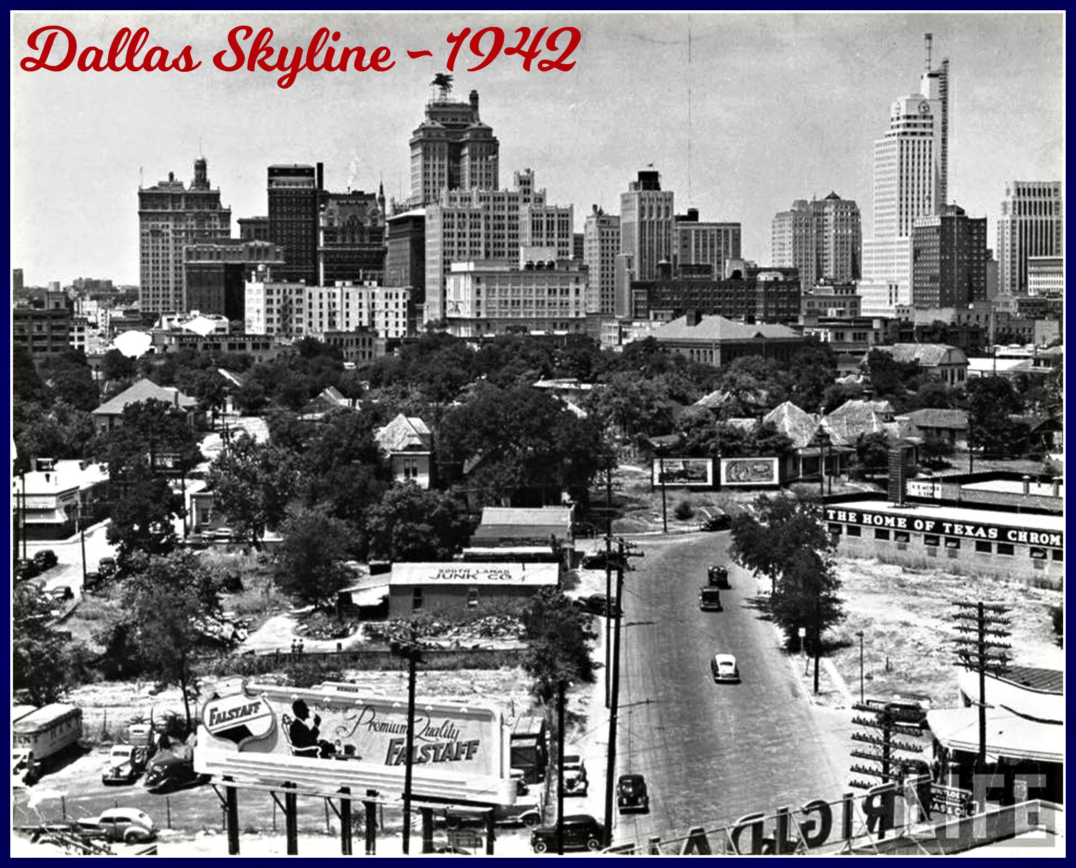 Dallas Texas Skyline In 1942 Dallas Skyline Dallas City Dallas Texas Attractions