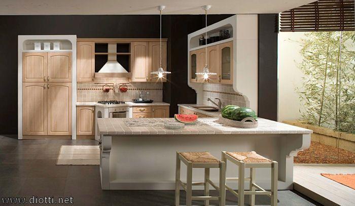 Cucine in finta muratura - Cucina bianca in finta muratura