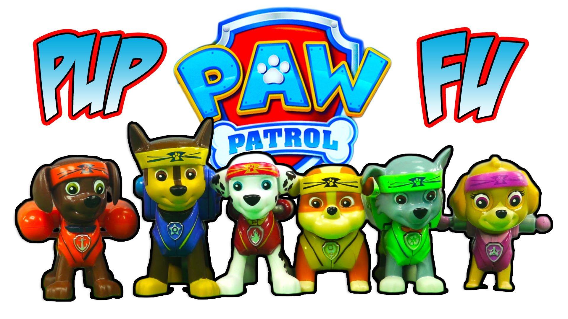 PAW PATROL PUP FU KUNG FU TOYS NICK JR PAW PATROL ACTION PACK PUPS ...