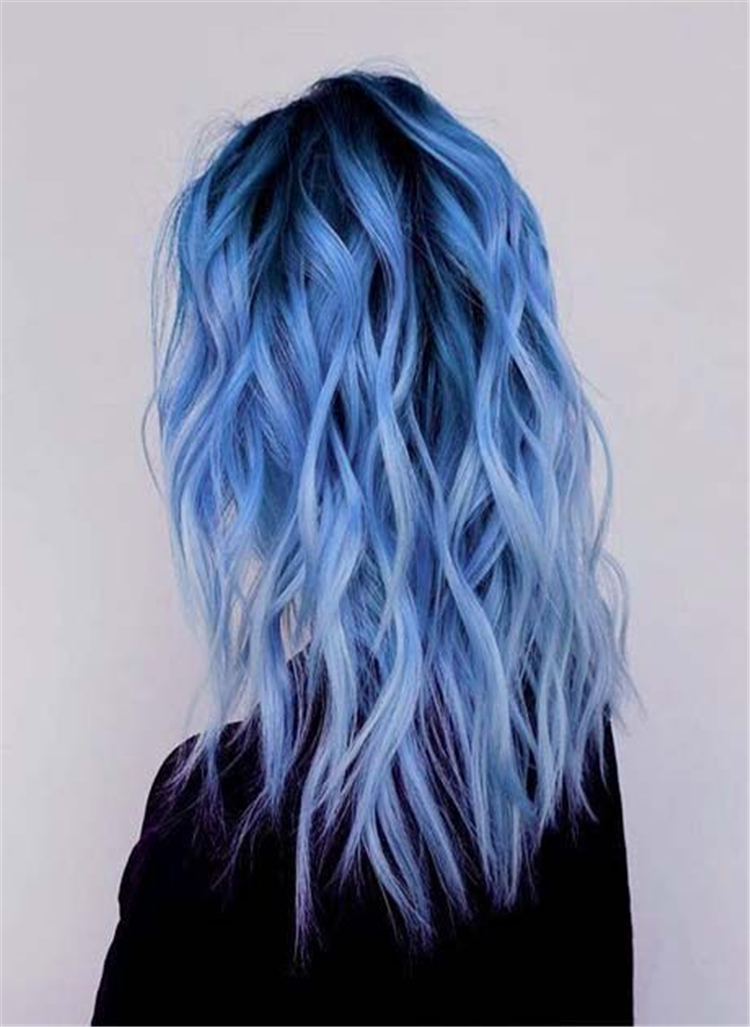 50 Bold And Pretty Blue Ombre Hair Color And Hairstyles You Must Try Page 7 Of 50 Cute Hostess For Modern Women In 2020 Hair Styles Hair Dye Colors Blue Ombre Hair