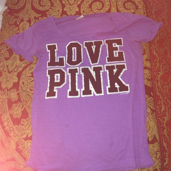 Victoria's Secret pink shirt Victoria's Secret pink shirt size large Victoria's Secret Tops Tees - Short Sleeve