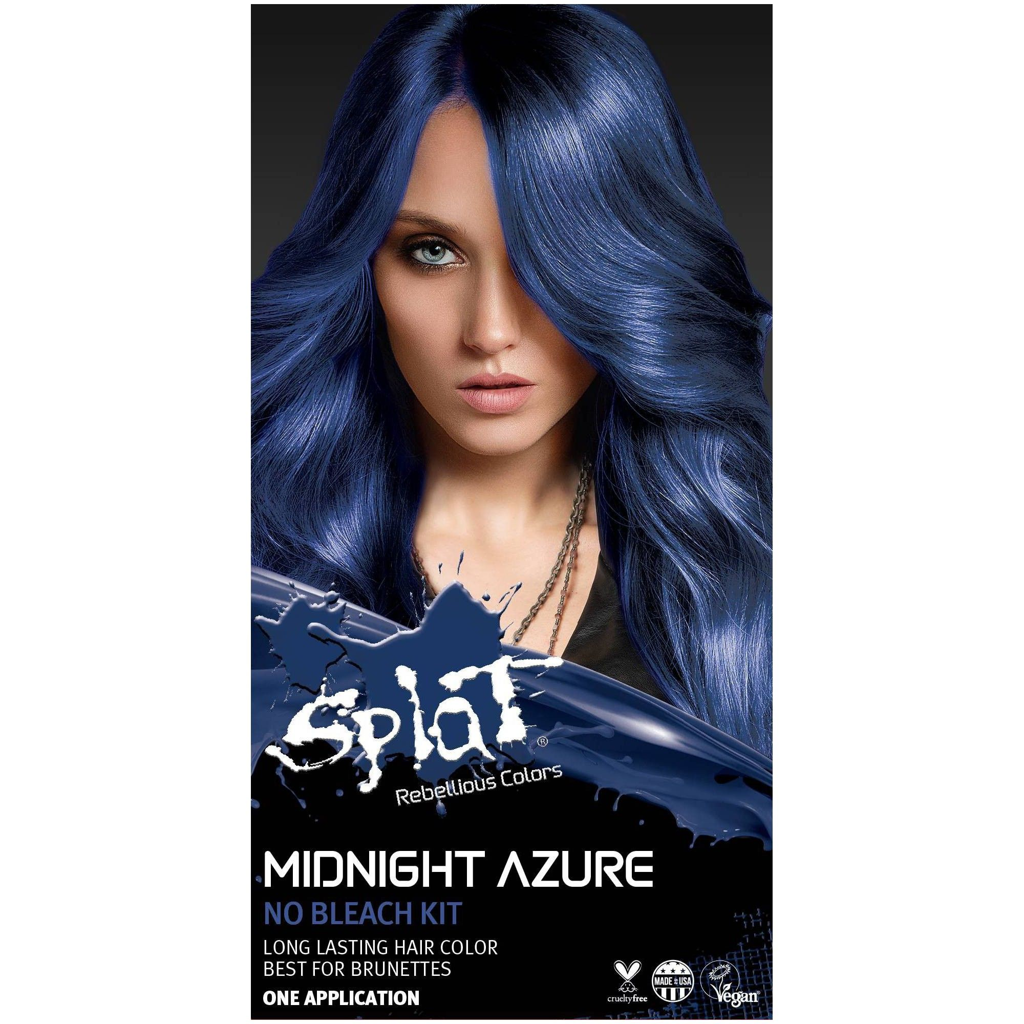 Splat Midnight Hair Color Azure 6 0oz In 2020 Midnight Hair Splat Midnight Hair Color Hair Color